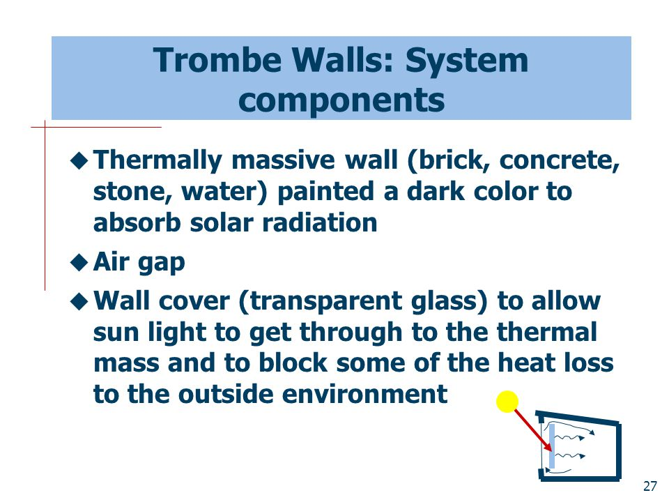 Trombe Walls: System components