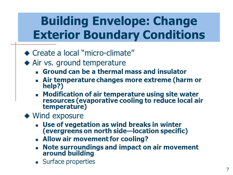 Building Envelope: Change Exterior Boundary Conditions