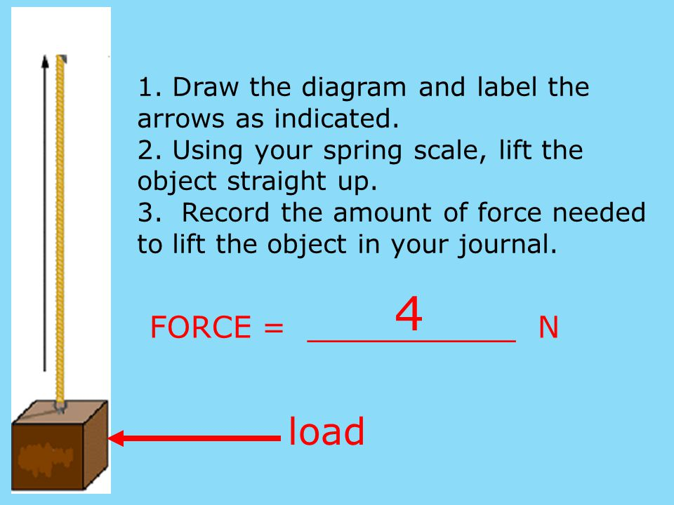 4 load FORCE = ___________ N
