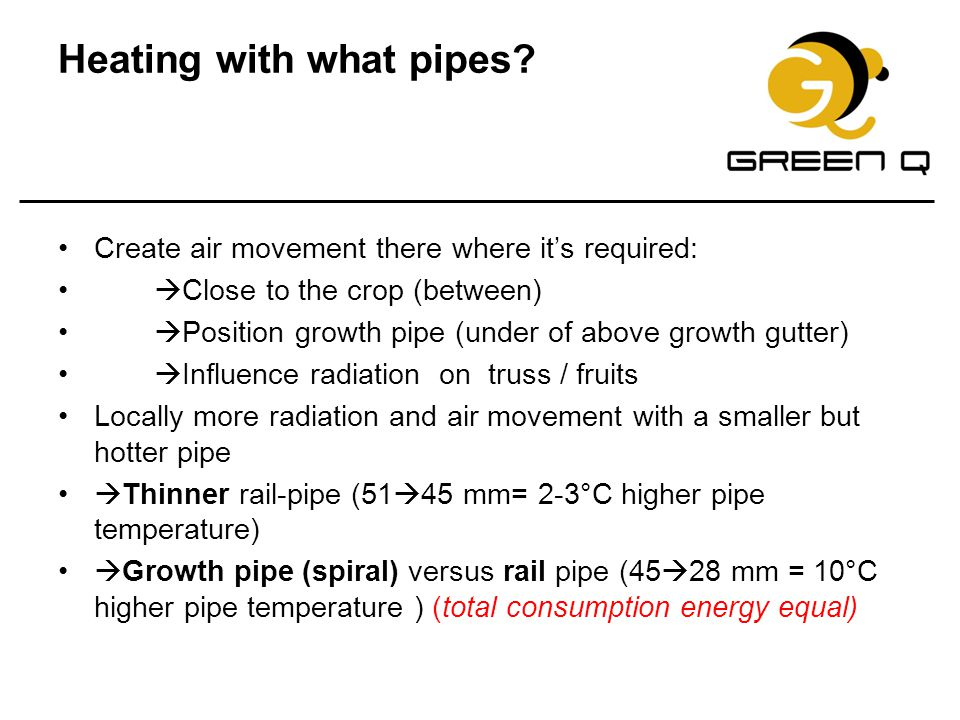 Heating with what pipes