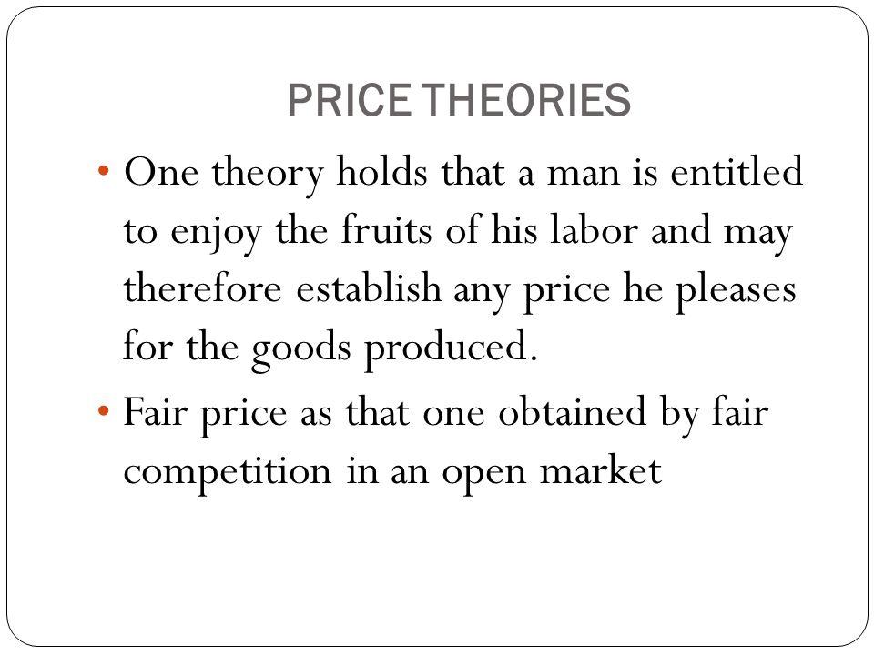 PRICE THEORIES