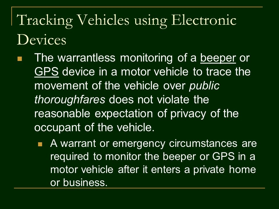 Tracking Vehicles using Electronic Devices