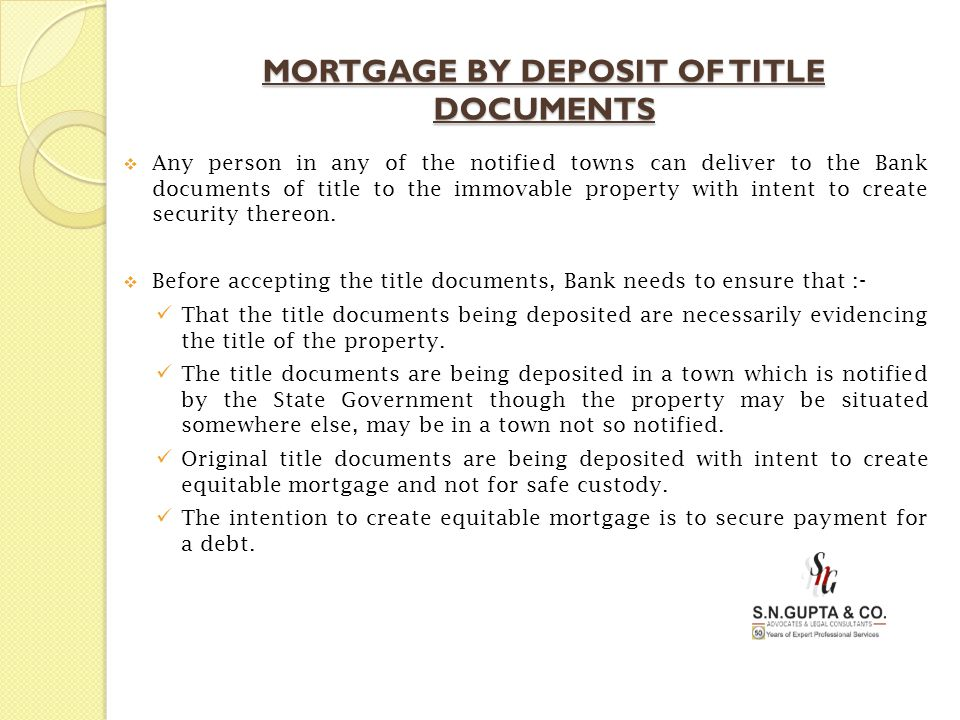 mortgage by deposit of title deeds Legal drafts/ mortgage / mortgage by deposit of title deeds when the marriage damages you, divorce is not a bad word mortgage by deposit of title deeds.