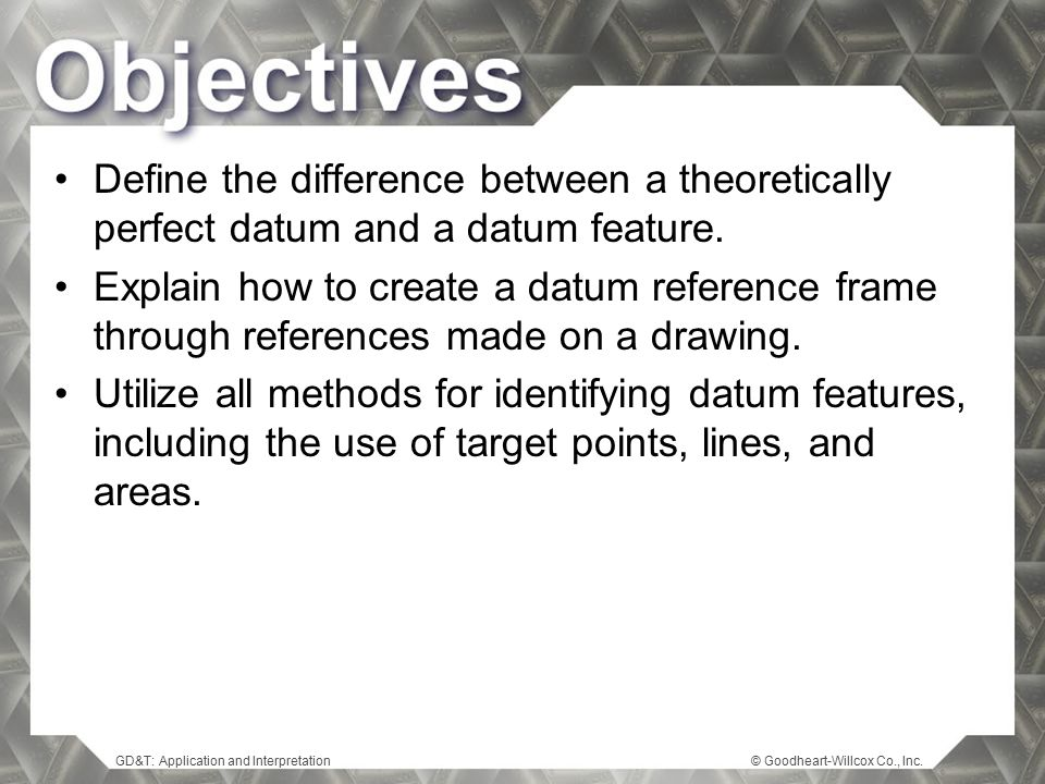 Define the difference between a theoretically perfect datum and a datum feature.