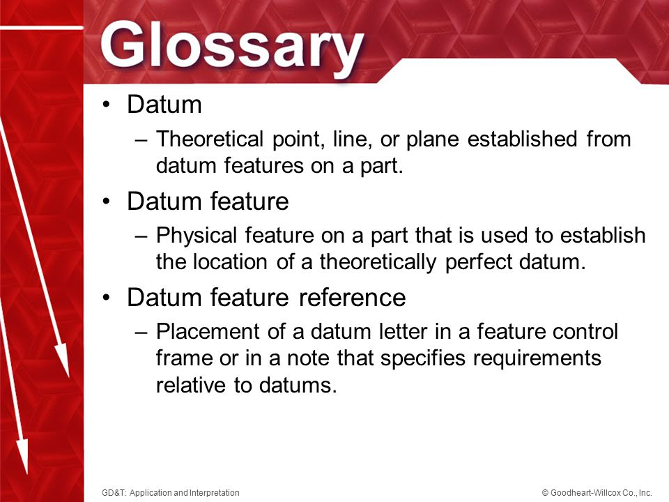 Datum feature reference