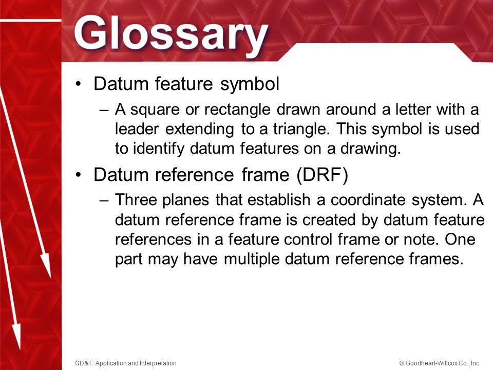 Datum reference frame (DRF)