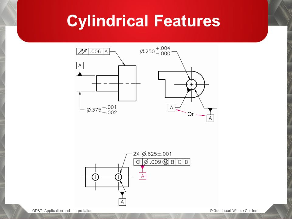 Cylindrical Features © Goodheart-Willcox Co., Inc.