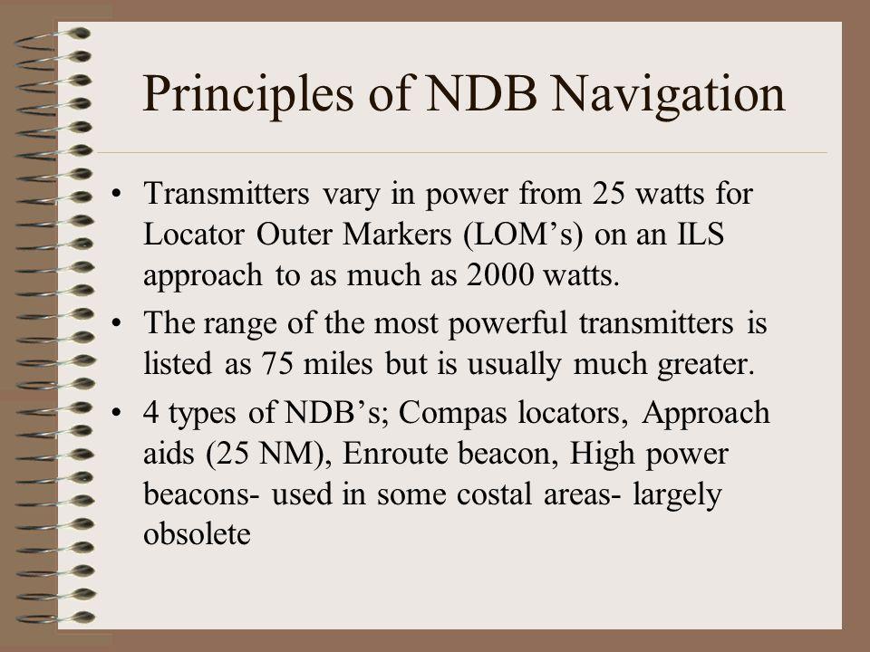 Principles of NDB Navigation