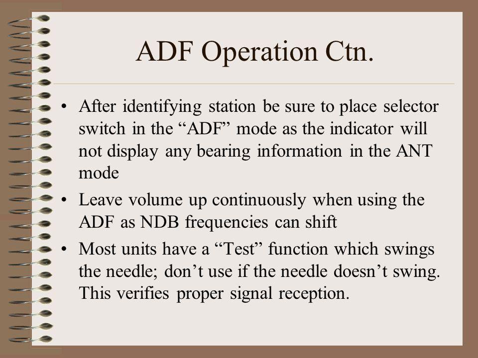 ADF Operation Ctn.