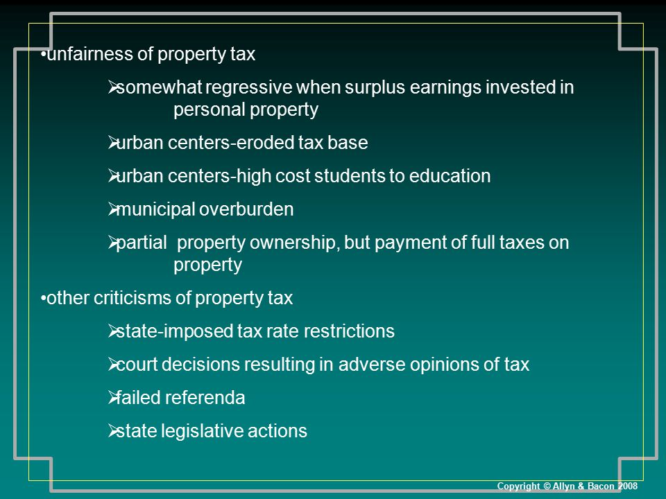 unfairness of property tax