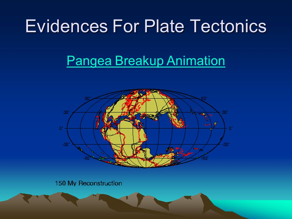 Evidences For Plate Tectonics