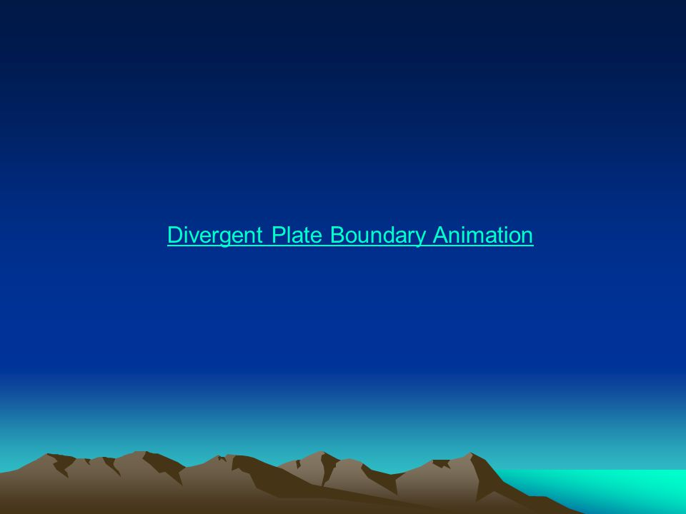 Divergent Plate Boundary Animation