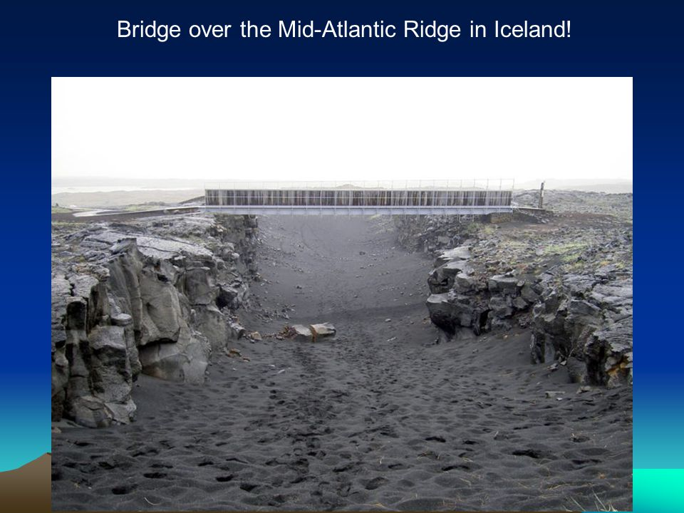 Bridge over the Mid-Atlantic Ridge in Iceland!