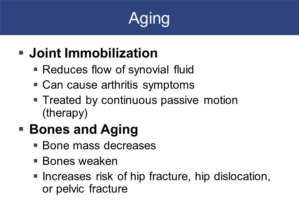 Aging Joint Immobilization Bones and Aging