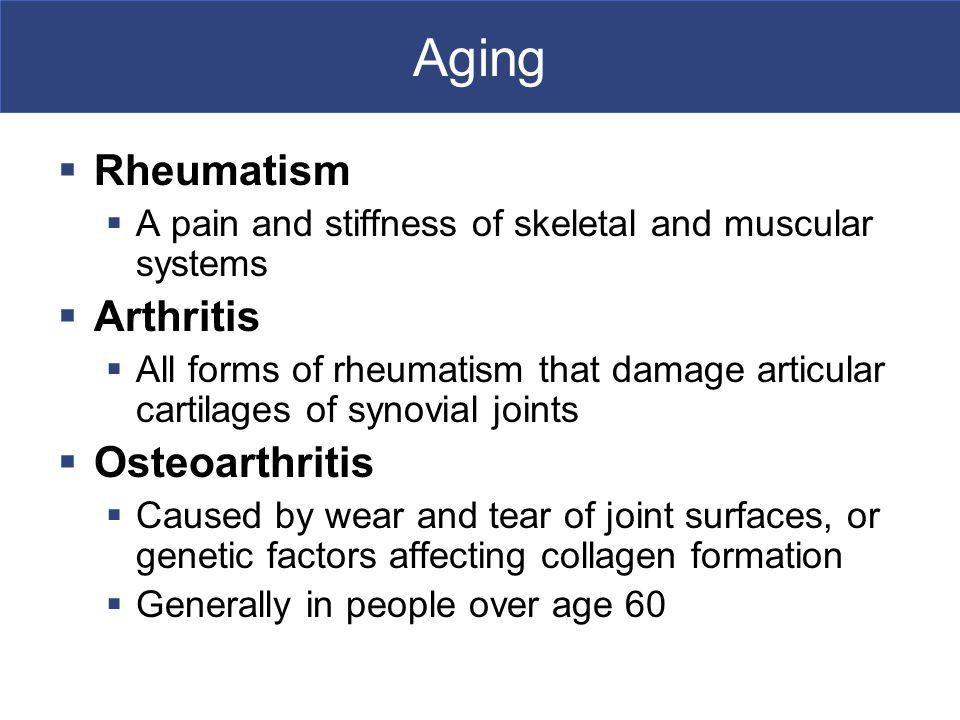 Aging Rheumatism Arthritis Osteoarthritis