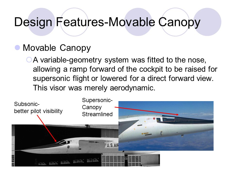 Design Features-Movable Canopy