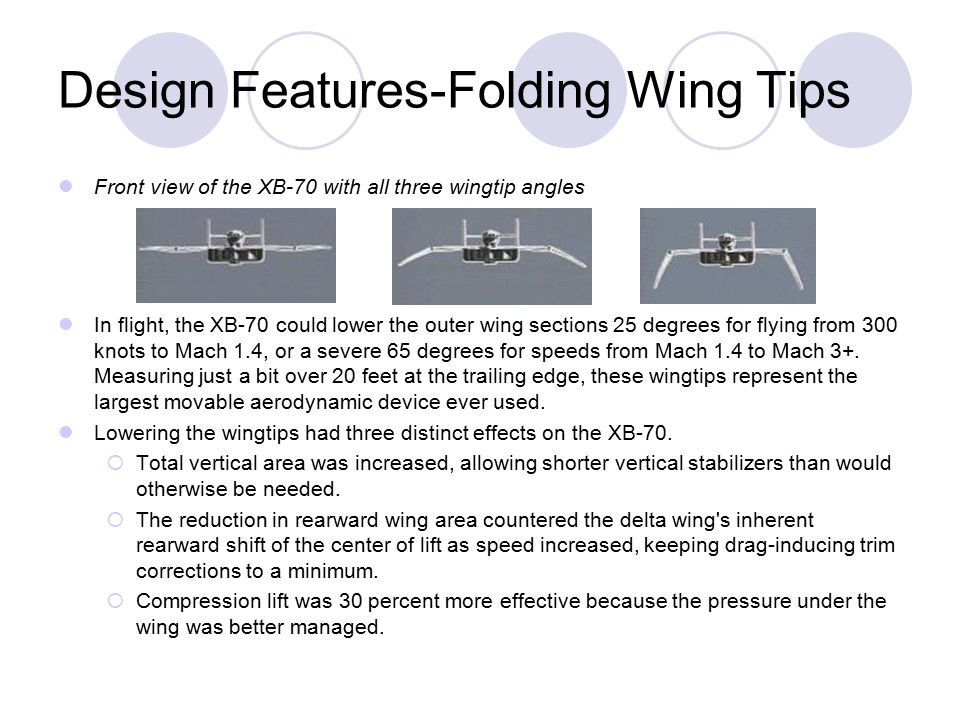 Design Features-Folding Wing Tips