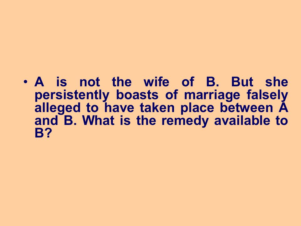 A is not the wife of B.