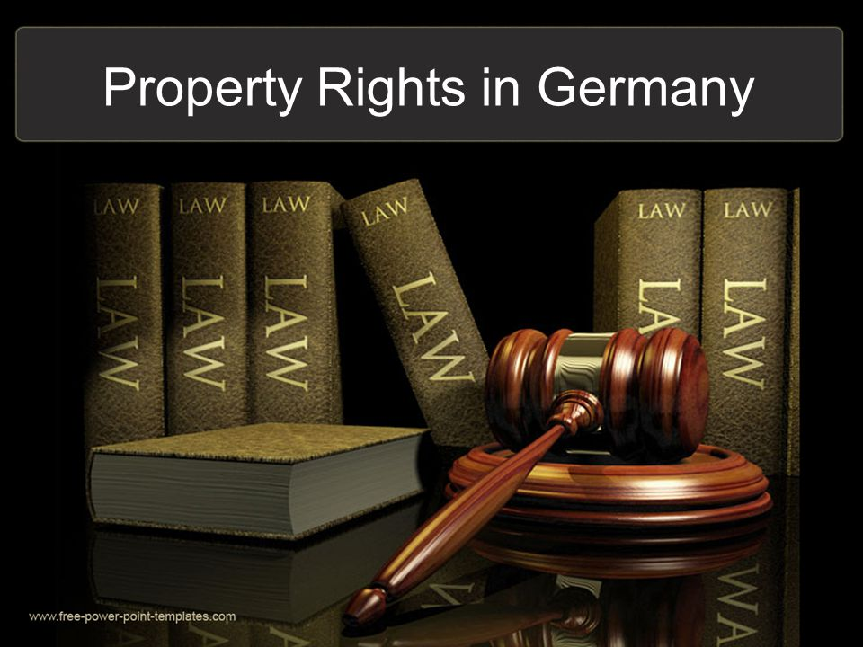 Property Rights in Germany