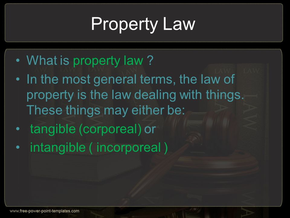 Property Law What is property law