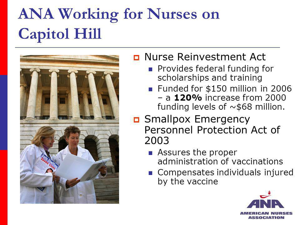 ANA Working for Nurses on Capitol Hill