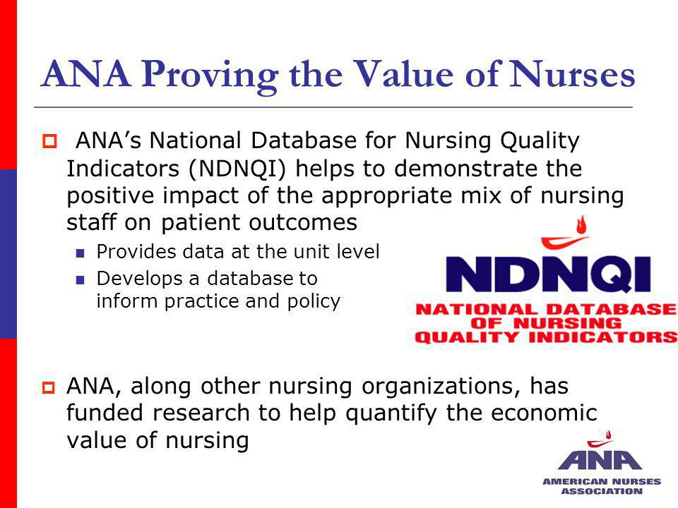 ANA Proving the Value of Nurses