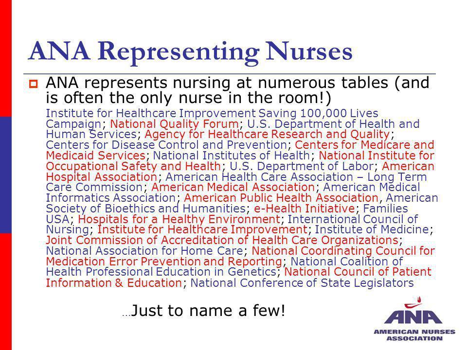 ANA Representing Nurses