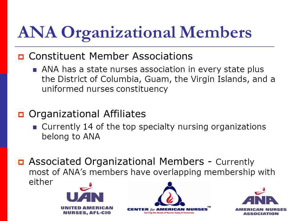 ANA Organizational Members