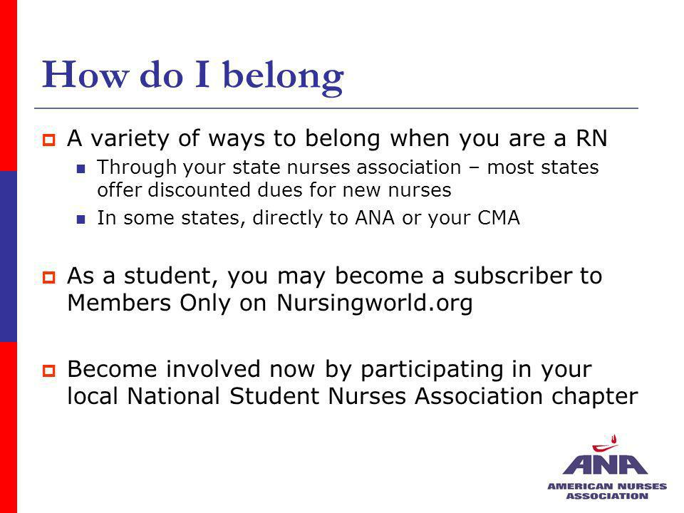 How do I belong A variety of ways to belong when you are a RN