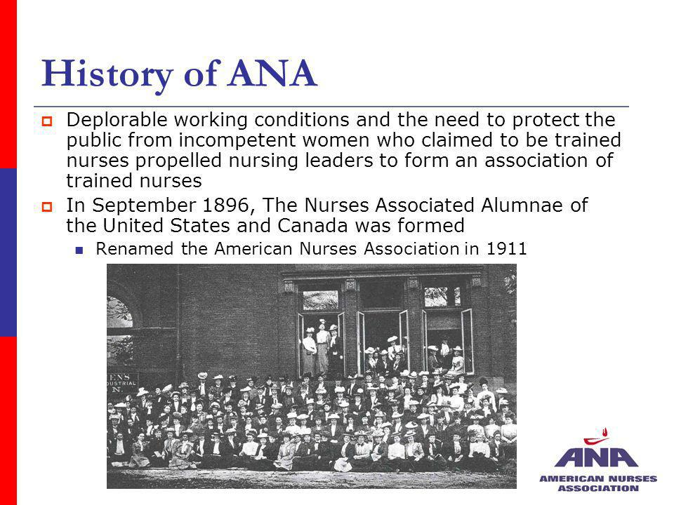 History of ANA