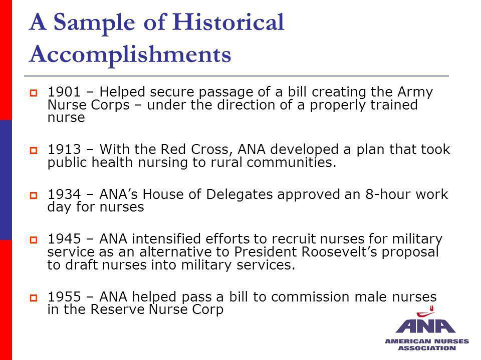 A Sample of Historical Accomplishments