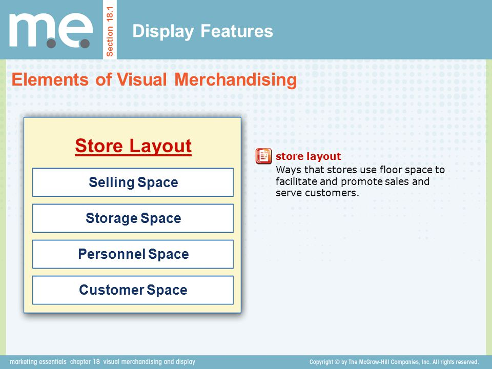 Store Layout Display Features Elements of Visual Merchandising