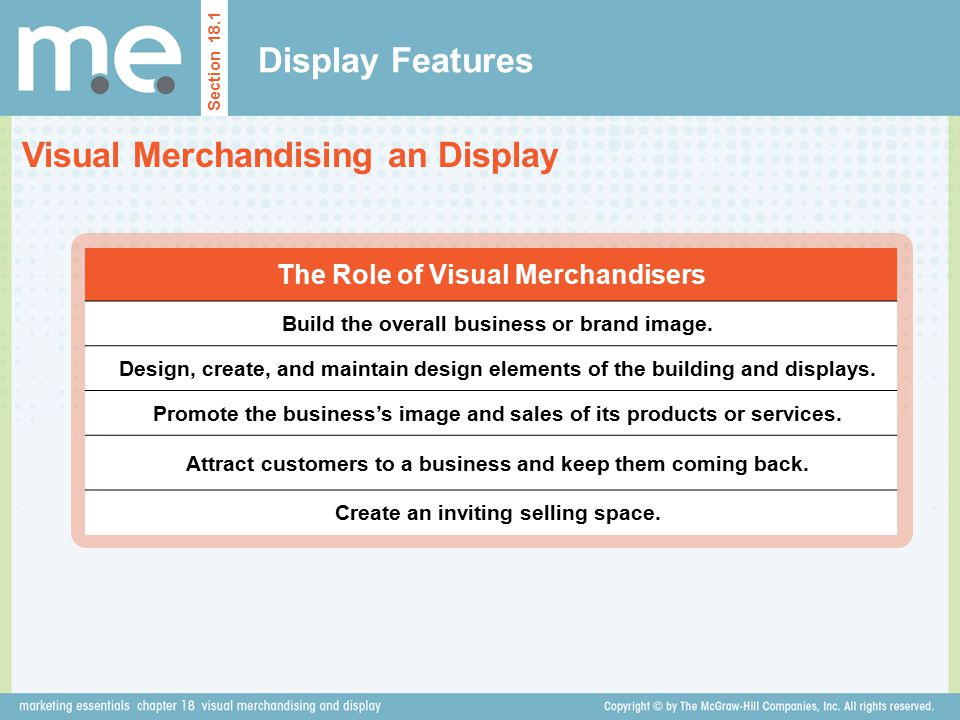 Visual Merchandising an Display