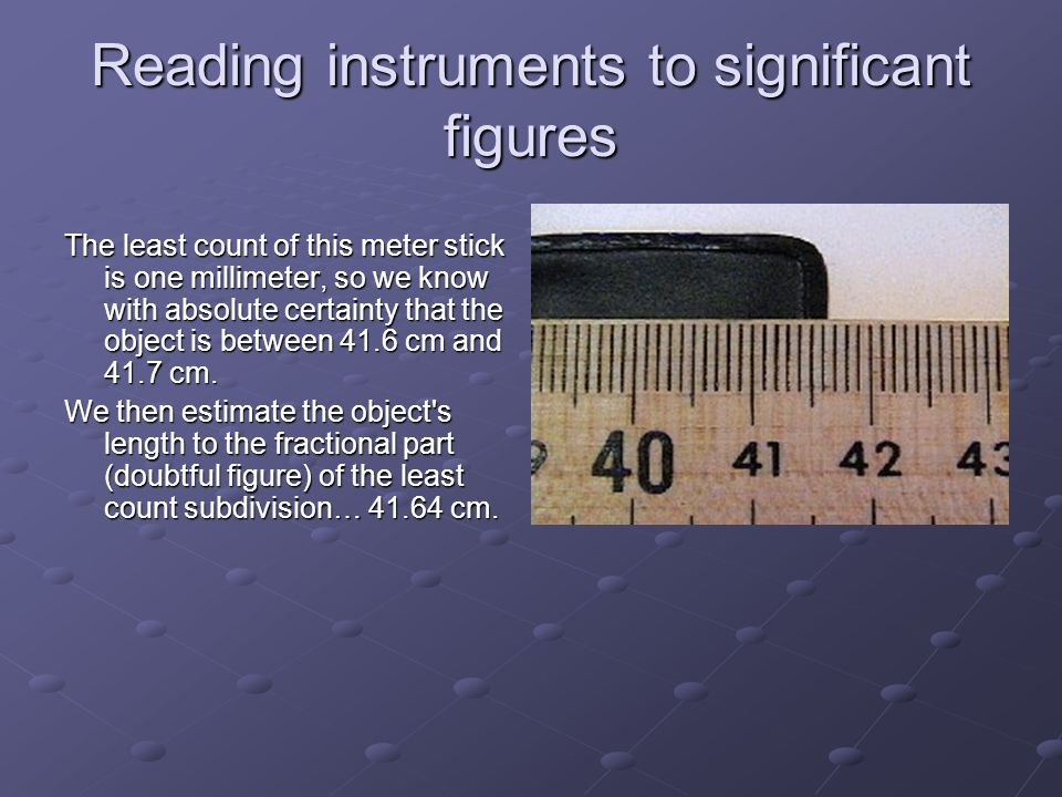 Reading instruments to significant figures