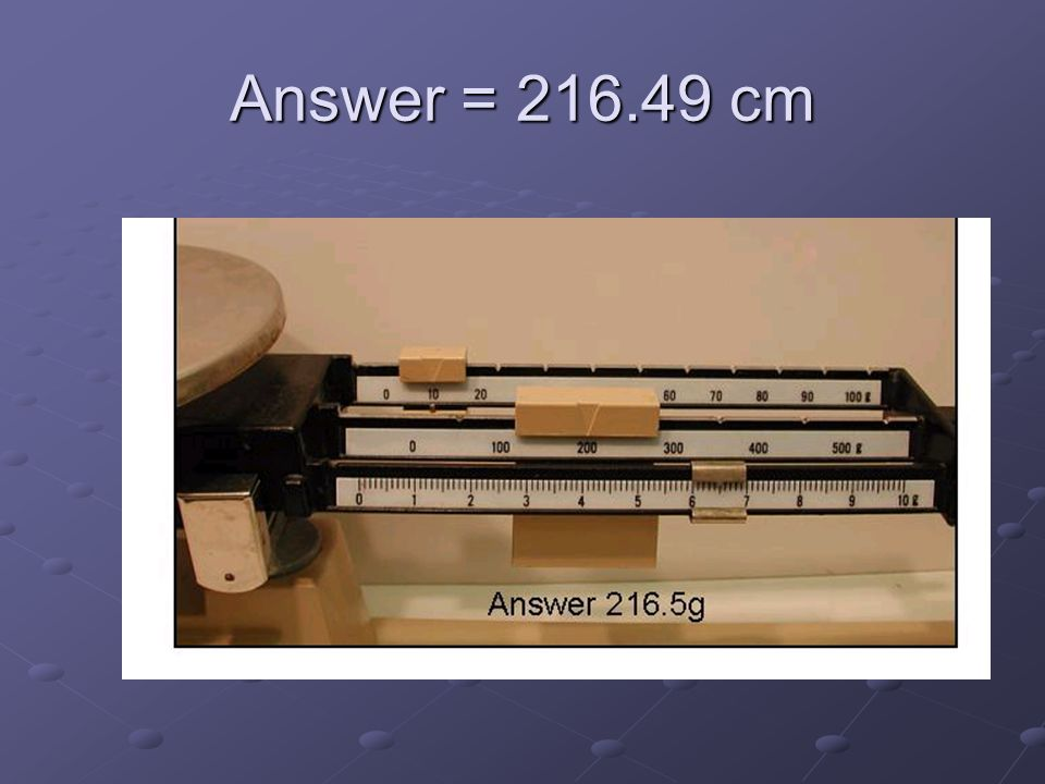 Answer = 216.49 cm