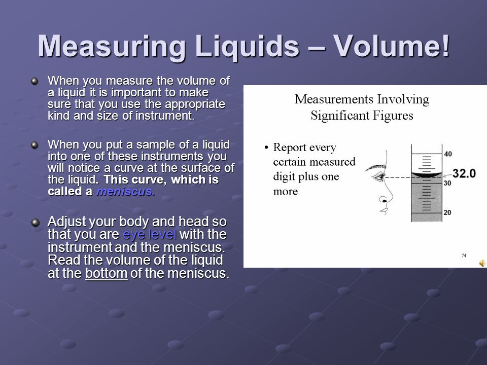 Measuring Liquids – Volume!