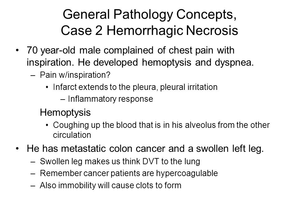 General Pathology Concepts, Case 2 Hemorrhagic Necrosis