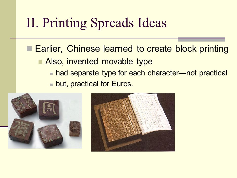 II. Printing Spreads Ideas