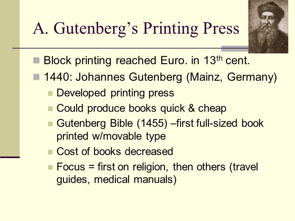 A. Gutenberg's Printing Press