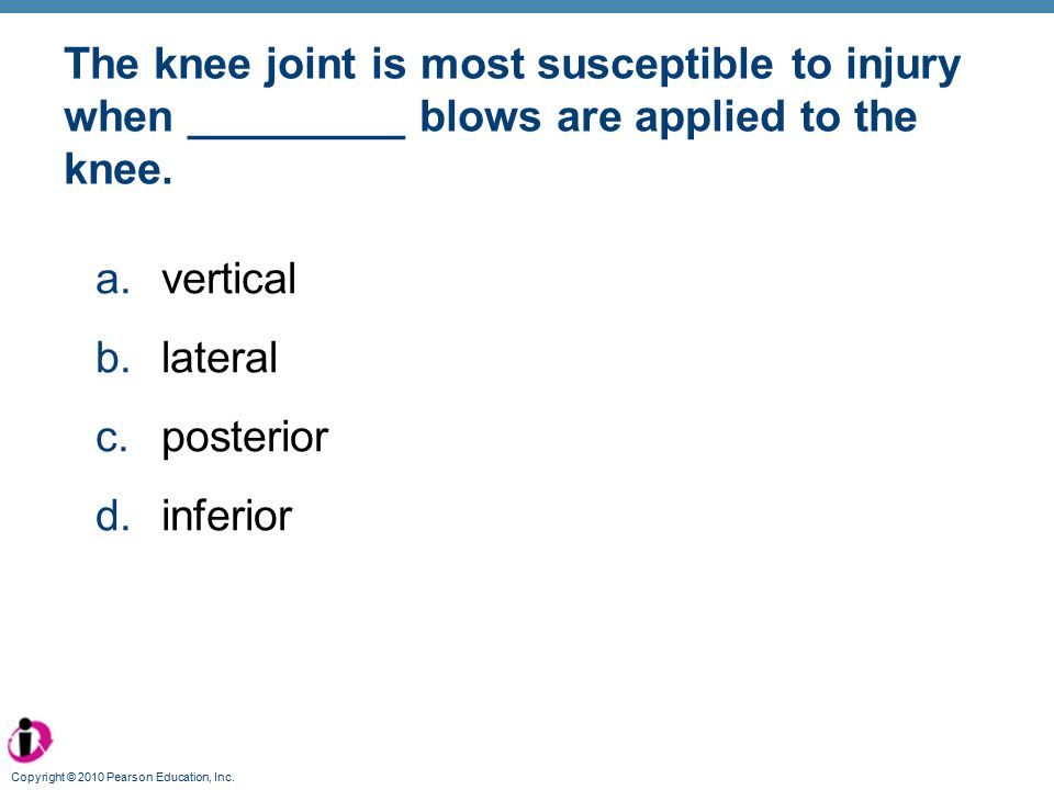 The knee joint is most susceptible to injury when _________ blows are applied to the knee.