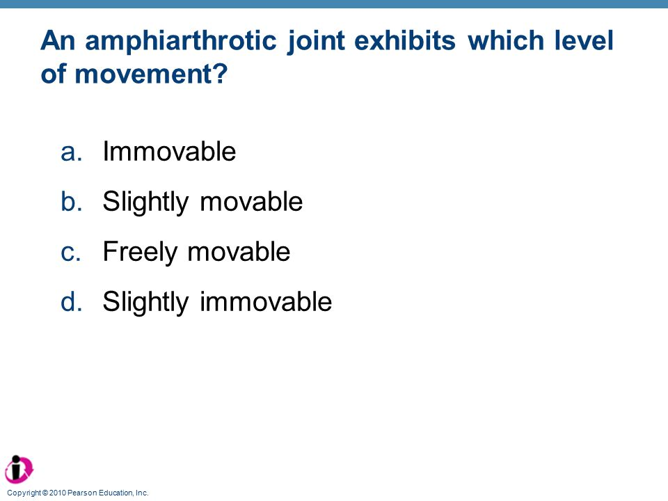 An amphiarthrotic joint exhibits which level of movement
