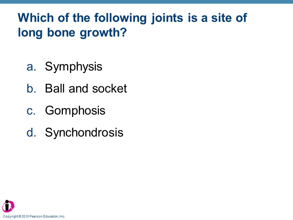 Which of the following joints is a site of long bone growth