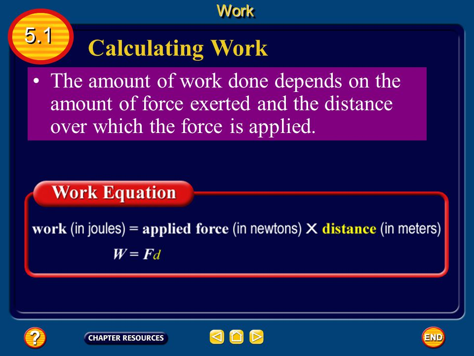 Work 5.1. Calculating Work.
