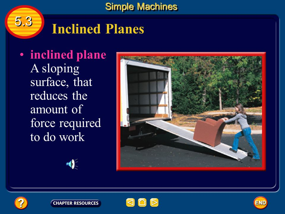 Simple Machines 5.3. Inclined Planes.