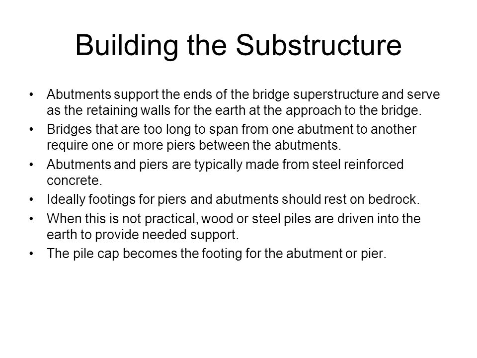 Building the Substructure