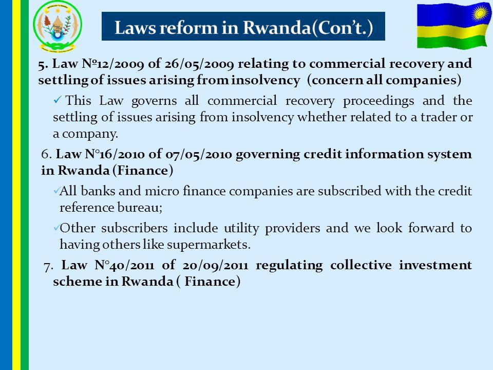 Laws reform in Rwanda(Con't.)