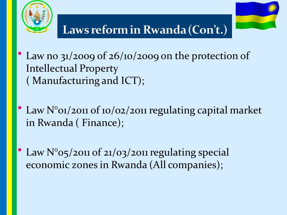 Laws reform in Rwanda (Con't.)