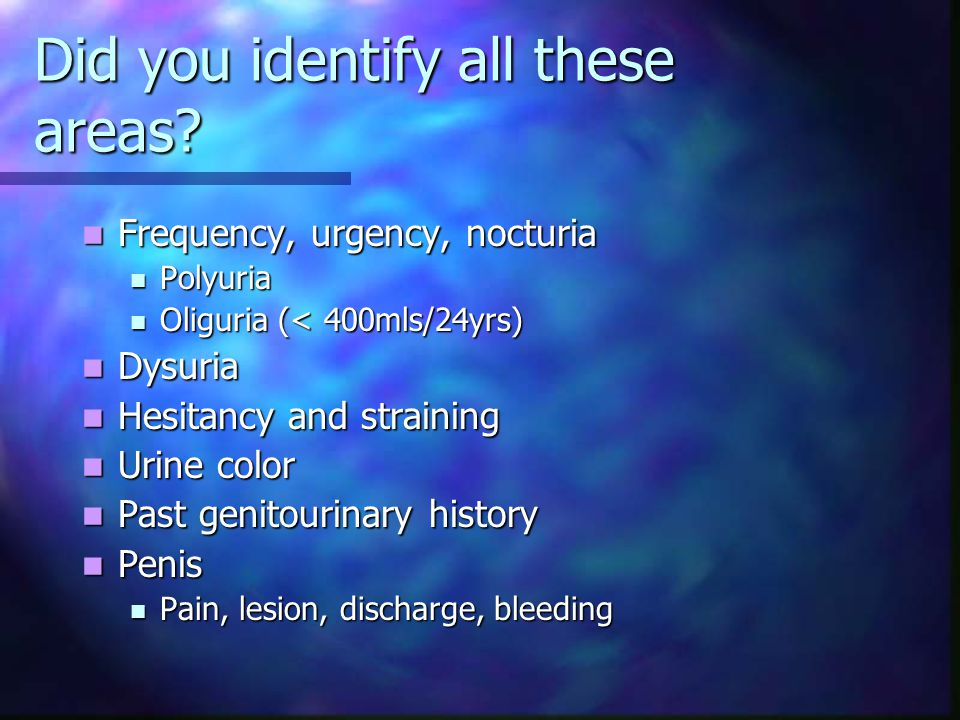 Did you identify all these areas