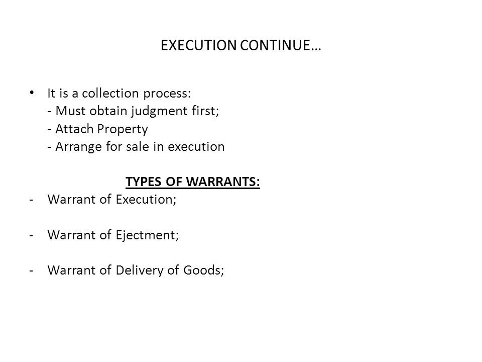 EXECUTION CONTINUE… It is a collection process: