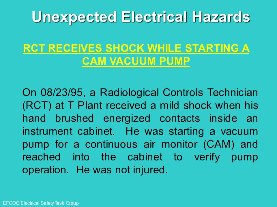 Unexpected Electrical Hazards